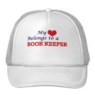 My heart belongs to a Book Keeper Trucker Hat