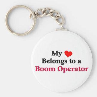 My heart belongs to a Boom Operator Keychain