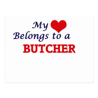 My heart belongs to a Butcher Postcard