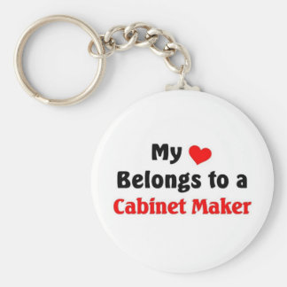 My heart belongs to a Cabinet Maker Keychain