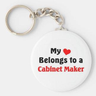 My heart belongs to a Cabinet Maker Keychain