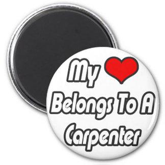 My Heart Belongs To A Carpenter Magnet