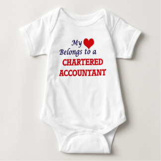 My heart belongs to a Chartered Accountant Baby Bodysuit