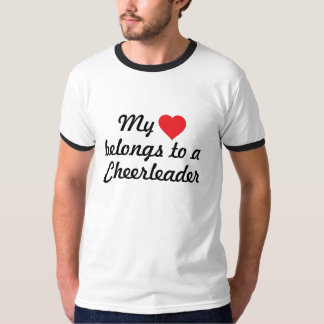 My heart belongs to a cheerleader tee shirt