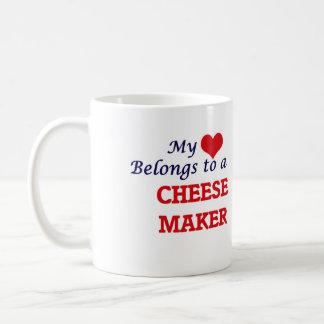 My heart belongs to a Cheese Maker Coffee Mug
