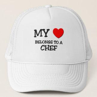 My Heart Belongs To A CHEF Trucker Hat