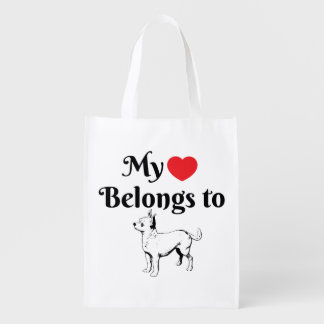 My heart belongs to a Chihuahua tote