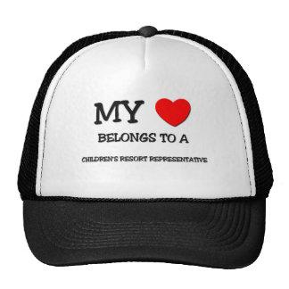 My Heart Belongs To A CHILDREN'S RESORT REPRESENTA Trucker Hat