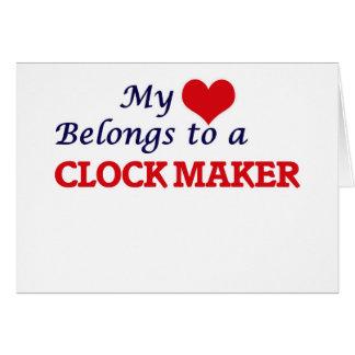 My heart belongs to a Clock Maker Card
