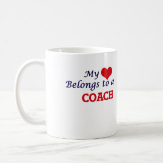 My heart belongs to a Coach Coffee Mug