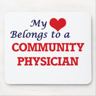 My heart belongs to a Community Physician Mouse Pad
