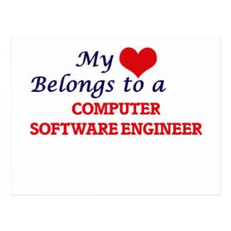 My heart belongs to a Computer Software Engineer Postcard