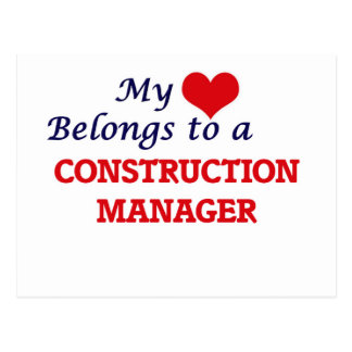 My heart belongs to a Construction Manager Postcard