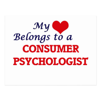 My heart belongs to a Consumer Psychologist Postcard