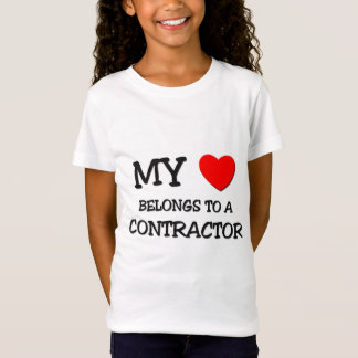 My Heart Belongs To A CONTRACTOR T-Shirt