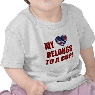 My Heart Belongs to a Cop Tee Shirt