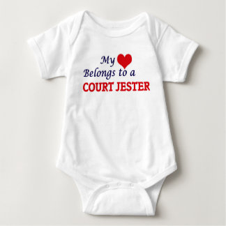 My heart belongs to a Court Jester Baby Bodysuit