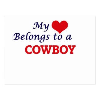 My heart belongs to a Cowboy Postcard