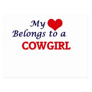 My heart belongs to a Cowgirl Postcard
