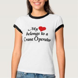 My heart belongs to a Crane Operator Tee Shirts