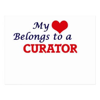 My heart belongs to a Curator Postcard