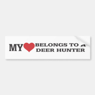 My Heart Belongs to a Deer Hunter Bumper Stickers