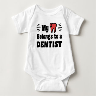 My heart Belongs To A Dentist Baby Bodysuit