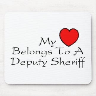 My Heart Belongs To A Deputy Sheriff Mouse Pad