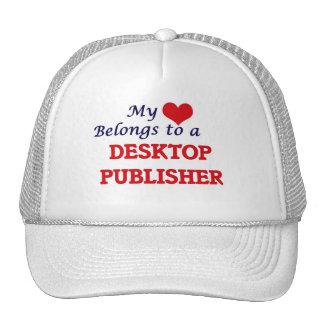 My heart belongs to a Desktop Publisher Trucker Hat