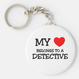 My Heart Belongs To A DETECTIVE Keychain