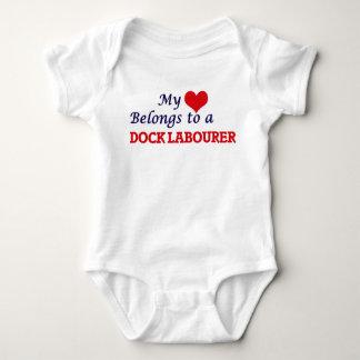 My heart belongs to a Dock Labourer Baby Bodysuit