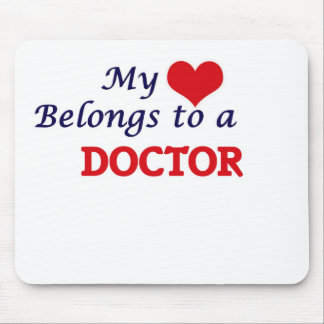 My heart belongs to a Doctor Mouse Pad