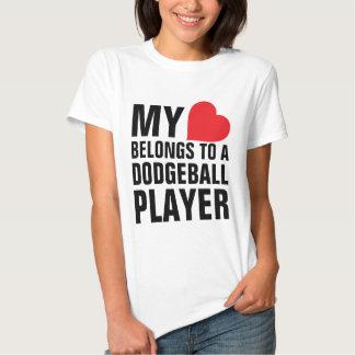 My heart belongs to a Dodgeball Player Tshirt