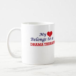 My heart belongs to a Drama Therapist Coffee Mug