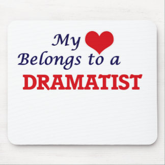My heart belongs to a Dramatist Mouse Pad