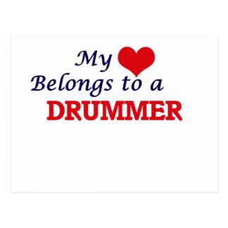 My heart belongs to a Drummer Postcard