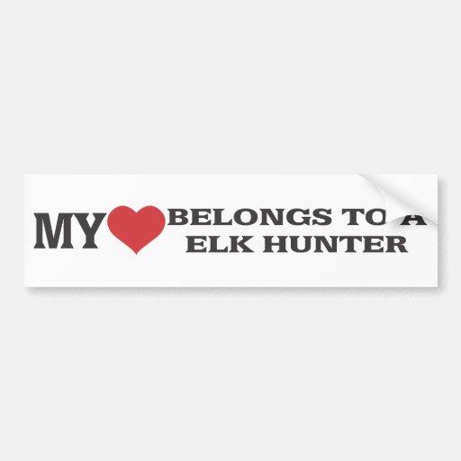 My Heart Belongs to A Elk Hunter Bumper Stickers