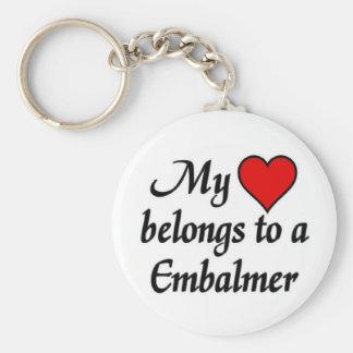 My heart belongs to a Embalmer Keychain