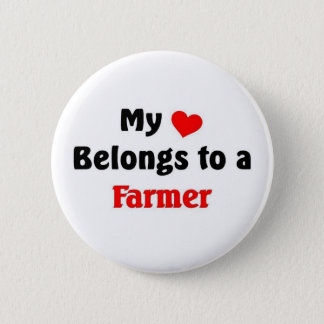 My heart belongs to a Farmer 2 Inch Round Button