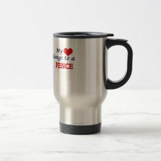 My heart belongs to a Fence Travel Mug