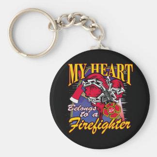 My Heart belongs to a Firefighter Key Chains