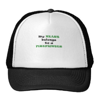 My Heart Belongs to a Firefighter Mesh Hat