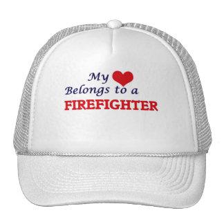 My heart belongs to a Firefighter Trucker Hat