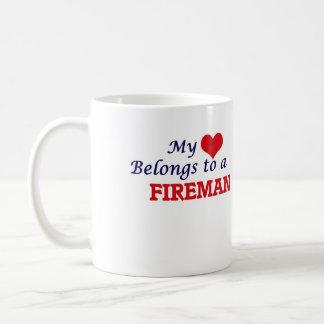 My heart belongs to a Fireman Coffee Mug