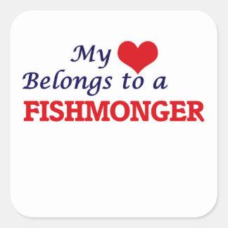 My heart belongs to a Fishmonger Square Sticker