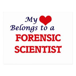My heart belongs to a Forensic Scientist Postcard