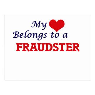 My heart belongs to a Fraudster Postcard