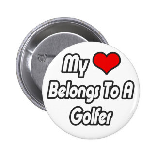 My Heart Belongs To A Golfer 2 Inch Round Button
