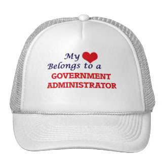My heart belongs to a Government Administrator Trucker Hat