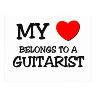 My Heart Belongs To A GUITARIST Postcard
